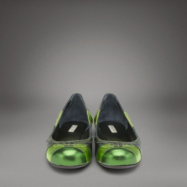 "Ballerine Bottega Veneta ""green mirror"""