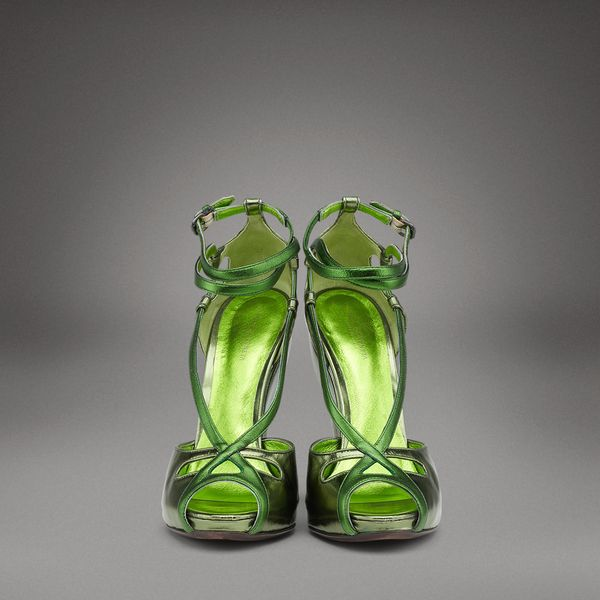 "Sandali tronchetto Bottega Veneta ""green mirror"""