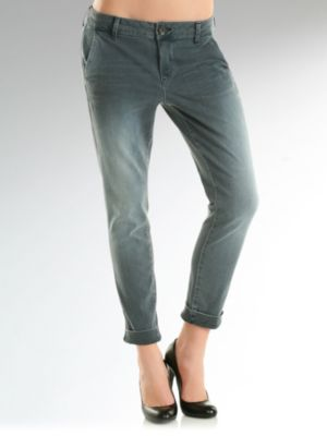 Marivella Stretch Drusy Denim Chino Pant