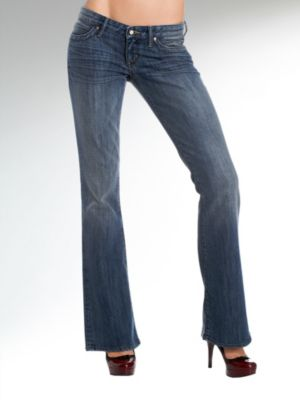 Foxy Flare Shiny Stretch Denim