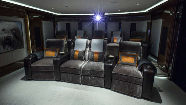 Media rooms with comfortable seating