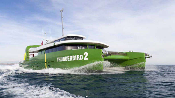 Submarine Carrying Motor Yacht Thunderbird 2 Delivered