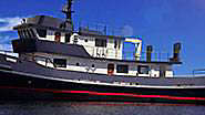 Converted tug Vervece available to charter in the W
