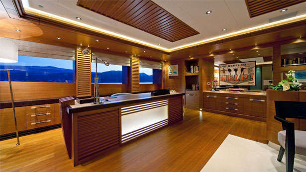 The office in the master suite on board Mary Jean II