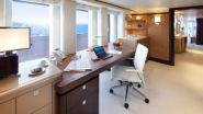 An office with a sea view