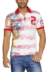 T-Shirts & Poloshirts Desigual Faded Stripes Regular Fit