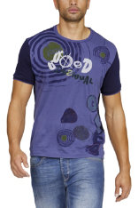 T-Shirts & Poloshirts Desigual Manolos Blue Regular Fit