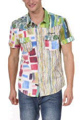 Camises  Desigual Flags & Checks Slim Fit