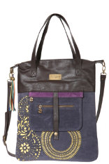 Accessories Desigual Shopping Noir Bleu