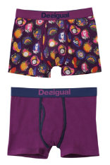 Bodywear Desigual Pack 2 White