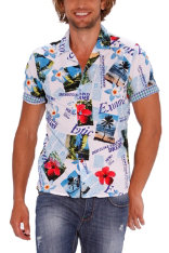 Shirts Desigual Flowers With Text