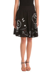 Faldas  Desigual Out Black