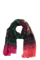 Scarves Desigual Black Flowers