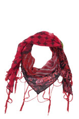 Scarves Desigual Red Flower