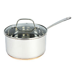 Different by Design Copper Bottom Stainless Steel Saucepan with Lid 20cm