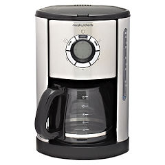 Morphy Richards Accents Polished Silver Filter Coffee Maker