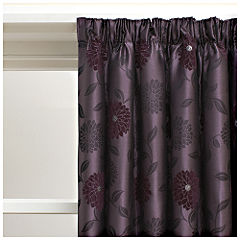 Belfield Chenille Floral Plum Curtains