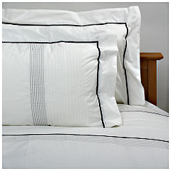Different by Design Duvet Set with Pintuck and Stitching White