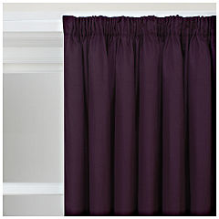 Tu Faux Silk Curtains Purple